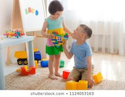 Kids Sharing Toys Images, Stock Photos & Vectors   Shutterstock